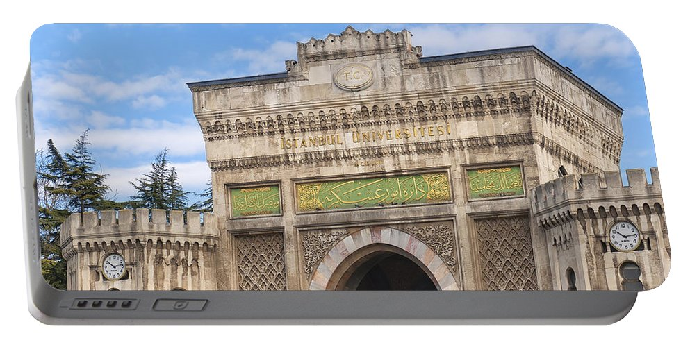 University Portable Battery Charger featuring the photograph Istanbul University 02 by Antony McAulay