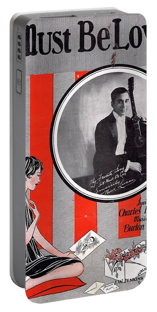 Nostalgia Portable Battery Charger featuring the photograph It Must Be Love by Mel Thompson