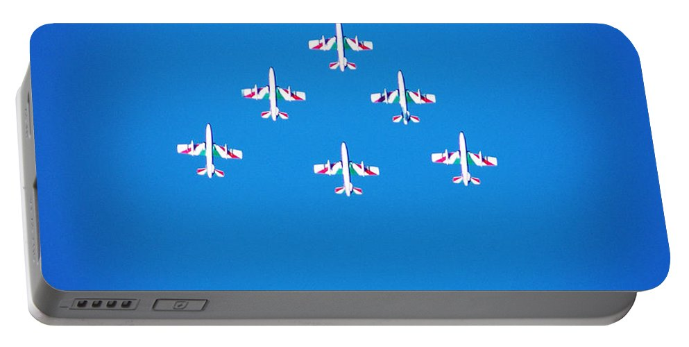 Tricolori Portable Battery Charger featuring the photograph Italian Aerobatics Team by Stefano Senise