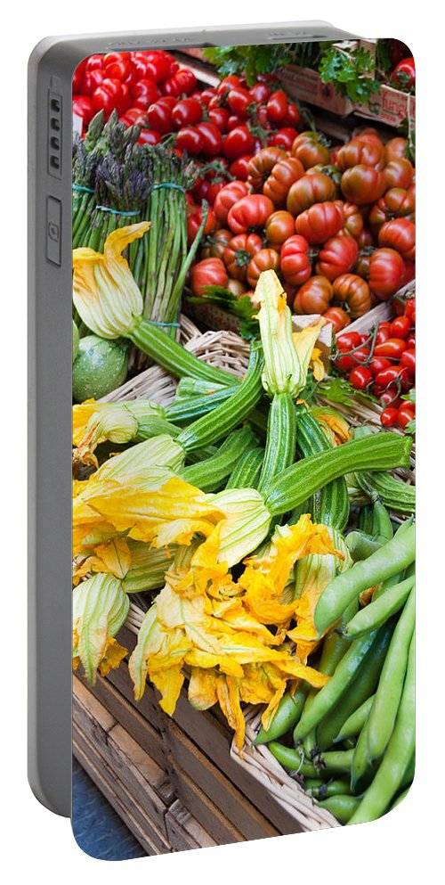 Italy Portable Battery Charger featuring the photograph Italian Market by Georgette Grossman