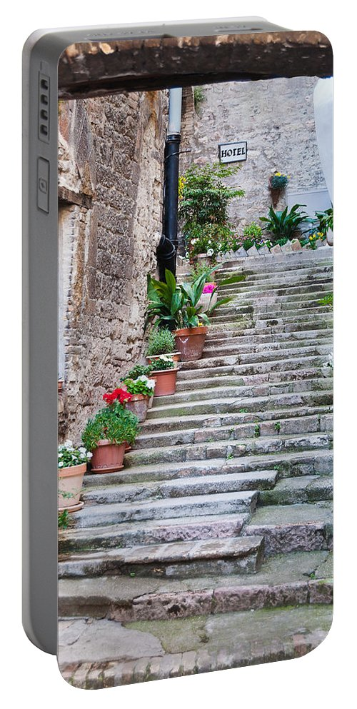 Italy Portable Battery Charger featuring the photograph Italian Stairway by Georgette Grossman