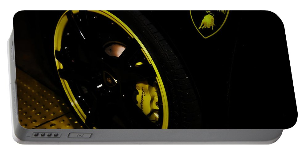 Exotic Sports Car Portable Battery Charger featuring the photograph Automobili by Digital Kulprits
