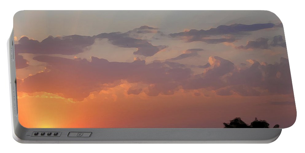 Sunset Portable Battery Charger featuring the photograph Italian Sunset by Marcello Cicchini