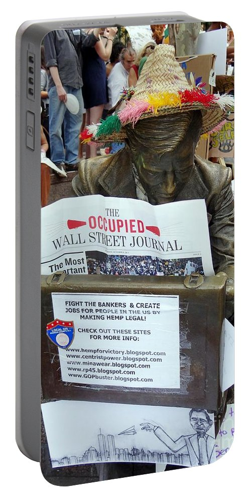 Occupy Wall Street Portable Battery Charger featuring the photograph Its A New Dawn by Ed Weidman