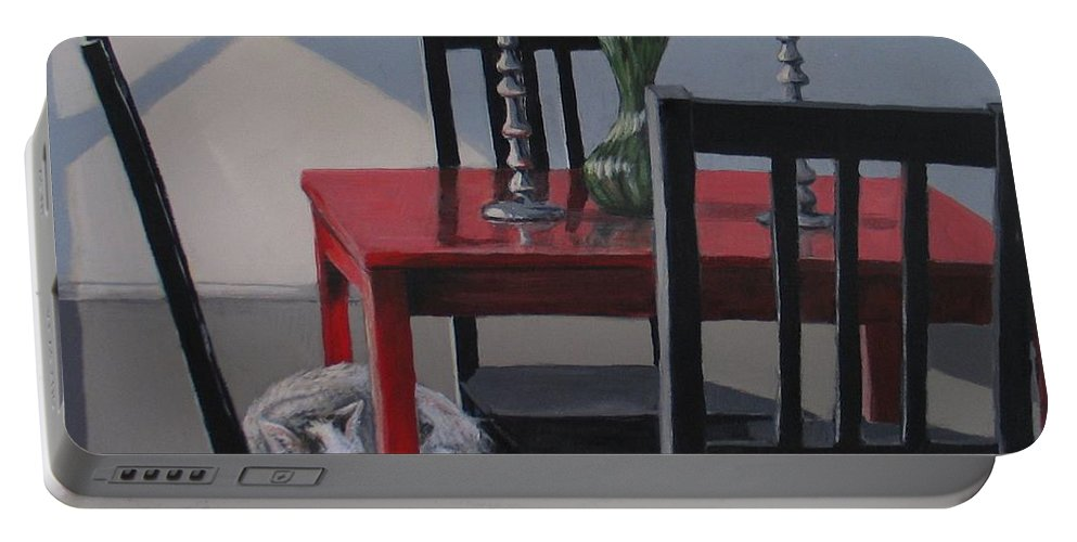 Interiors Portable Battery Charger featuring the painting Its A New Day by Karen Ilari