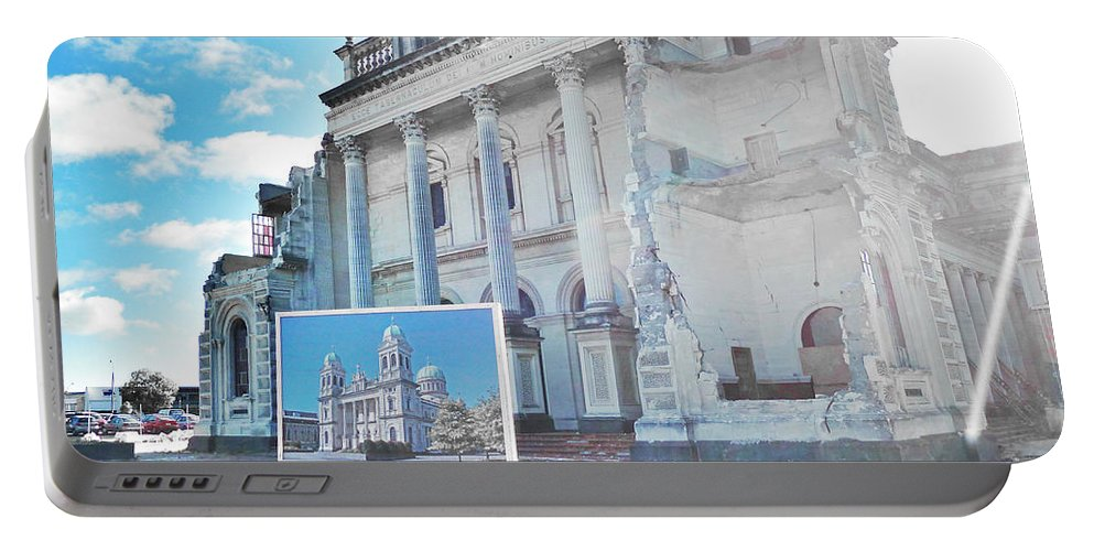 Window Portable Battery Charger featuring the photograph It's Had A Quake Over by Steve Taylor