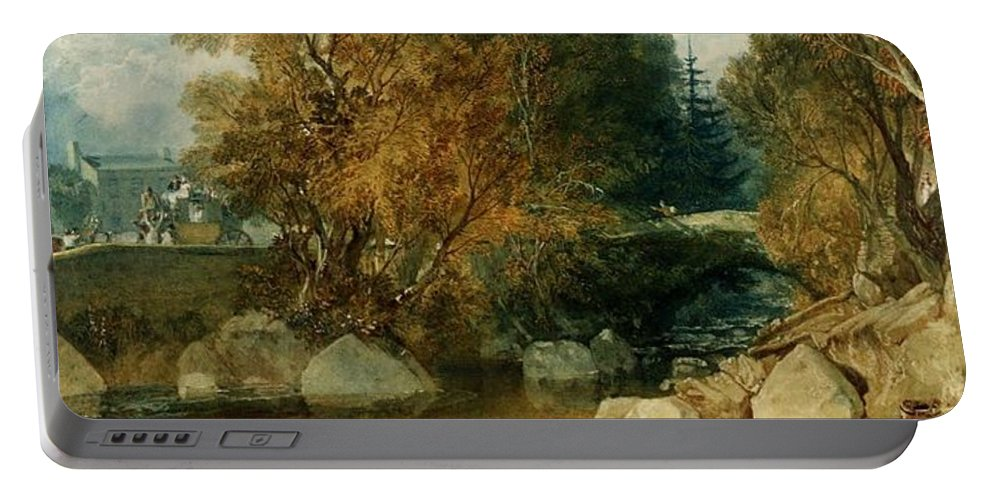 1813 Portable Battery Charger featuring the painting Ivy Bridge by JMW Turner