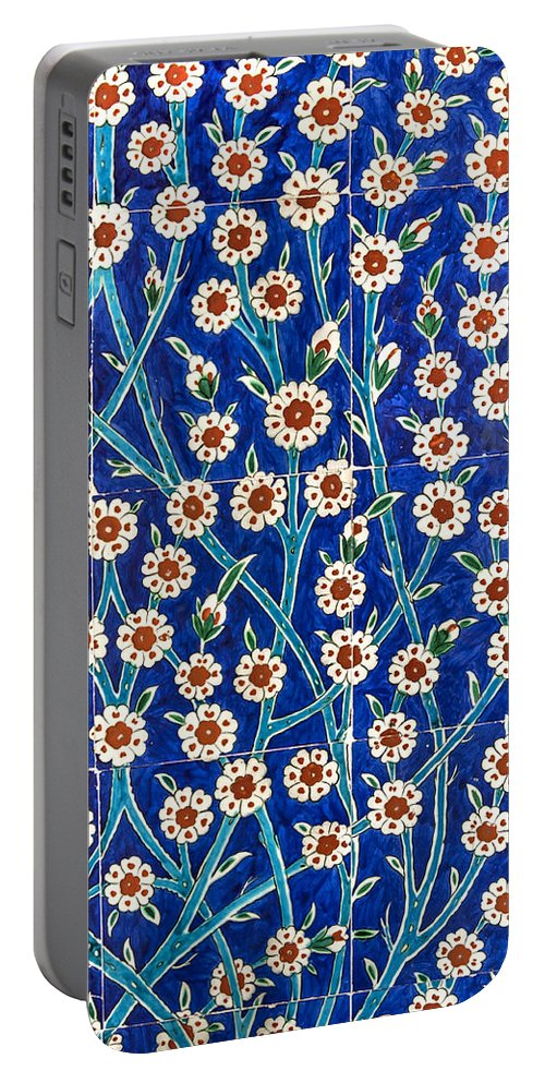 The Past Portable Battery Charger featuring the photograph Iznik Tiles In Harem Topkapi Palace Istanbul by Ayhan Altun
