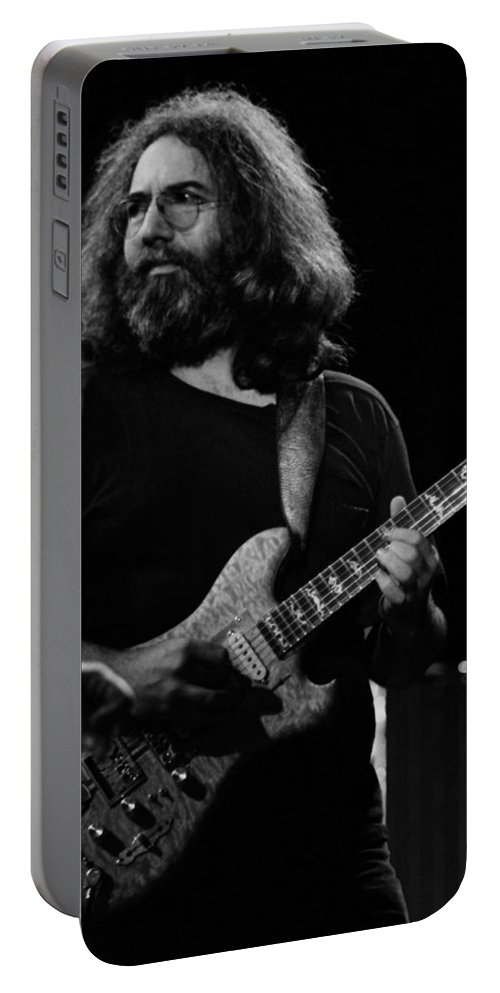 Jerry Garcia Portable Battery Charger featuring the photograph J G B #40 by Ben Upham