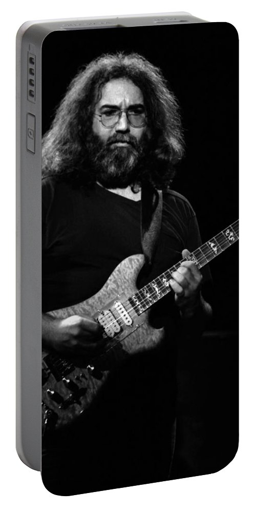 Jerry Garcia Portable Battery Charger featuring the photograph J G B #46 by Ben Upham