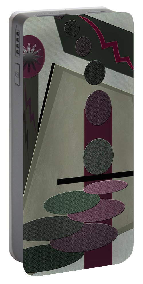 Abstract Portable Battery Charger featuring the photograph Jackpot by Linda Dunn