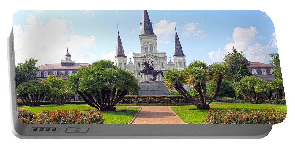 Jackson Square Portable Battery Charger featuring the photograph Jackson Square by Ryan Burton