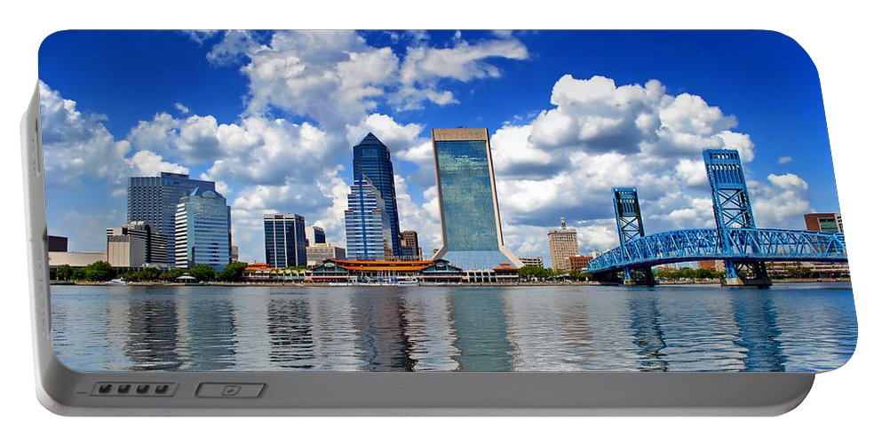 Jacksonville Portable Battery Charger featuring the photograph Jacksonville Skyline by Mountain Dreams