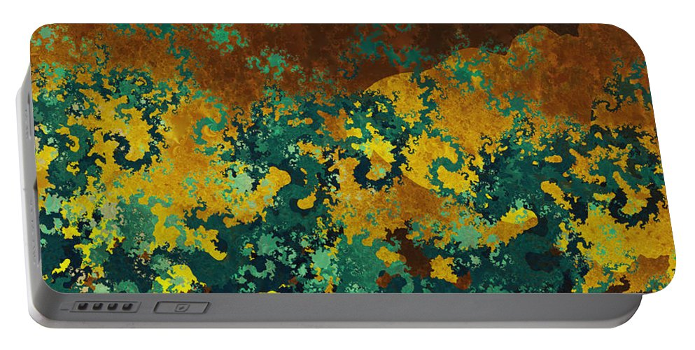 Fractal Portable Battery Charger featuring the digital art Jade by Richard Kelly
