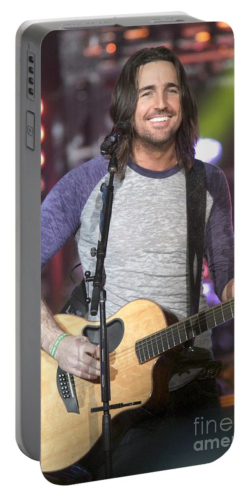 Performing Portable Battery Charger featuring the photograph Jake Owen by Concert Photos