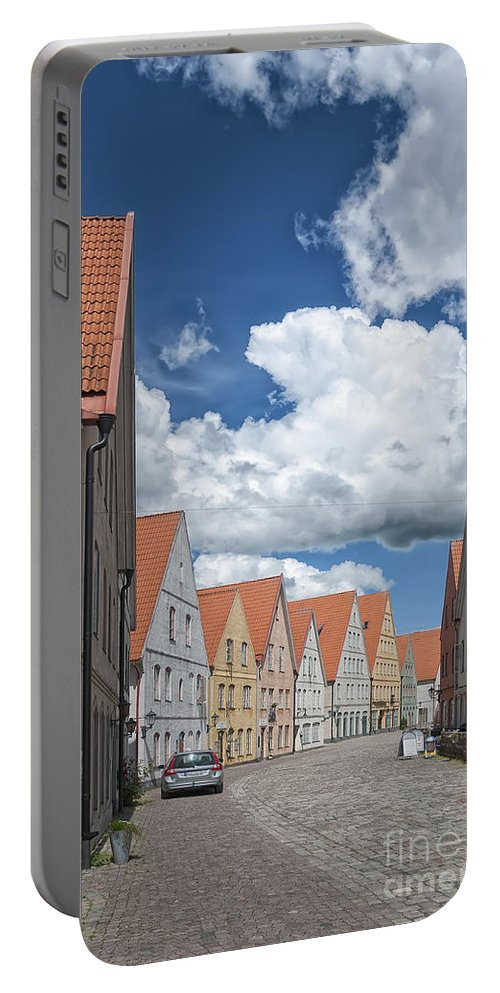 Sweden Portable Battery Charger featuring the photograph Jakriborg Street Scene by Antony McAulay
