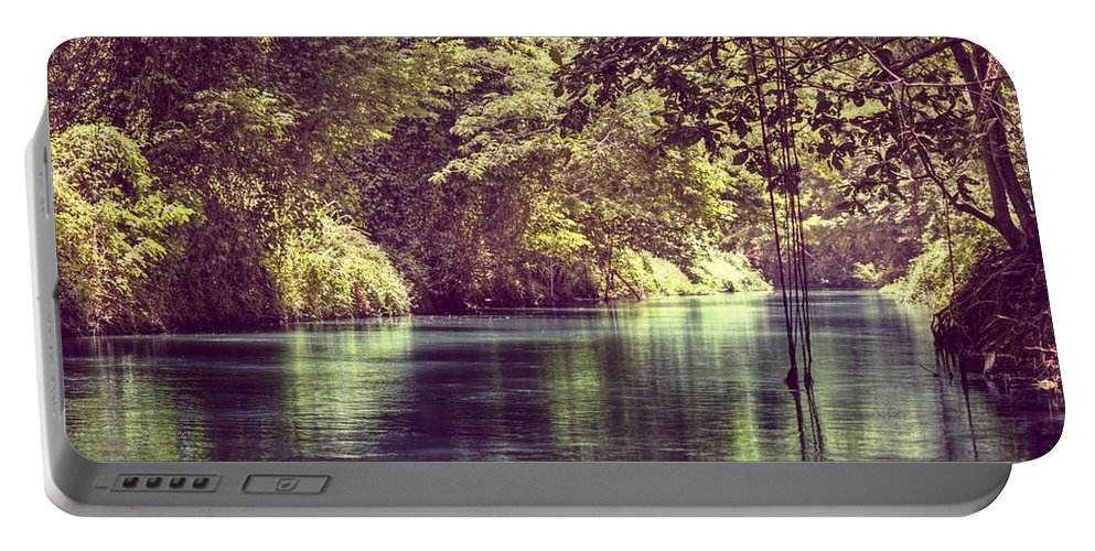 Rafting Portable Battery Charger featuring the photograph Jamaican Dreams by Melanie Lankford Photography
