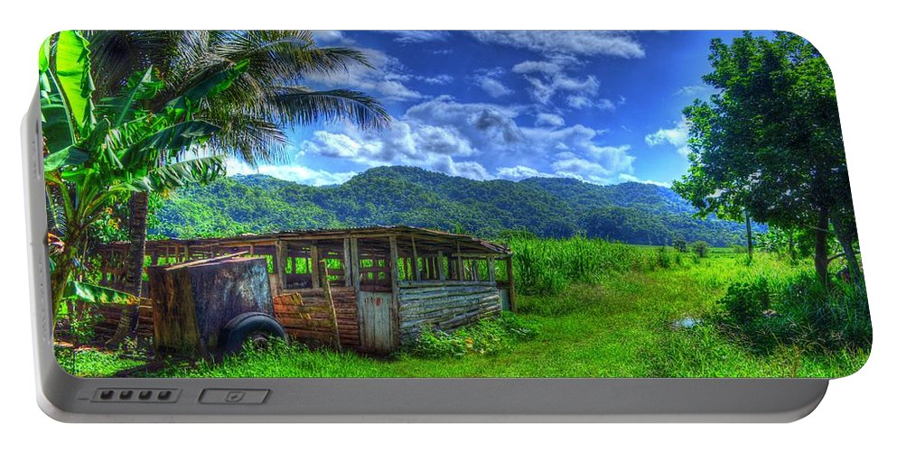 Vacation Portable Battery Charger featuring the photograph Jamaican Sky by William Teed