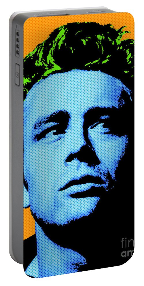 James Dean Portable Battery Charger featuring the digital art James Dean 004 by Bobbi Freelance