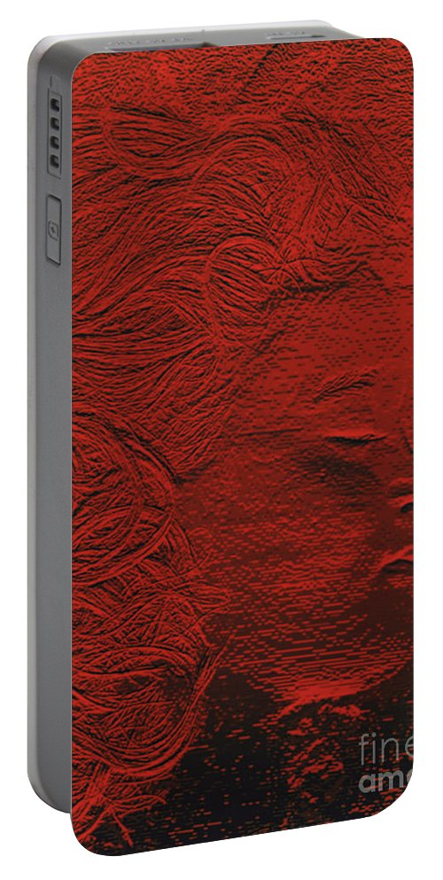 First Star Art Portable Battery Charger featuring the photograph jammer MZ portrait 02 by First Star Art