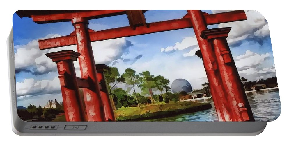 Epcot Portable Battery Charger featuring the photograph Japan by Joyce Baldassarre