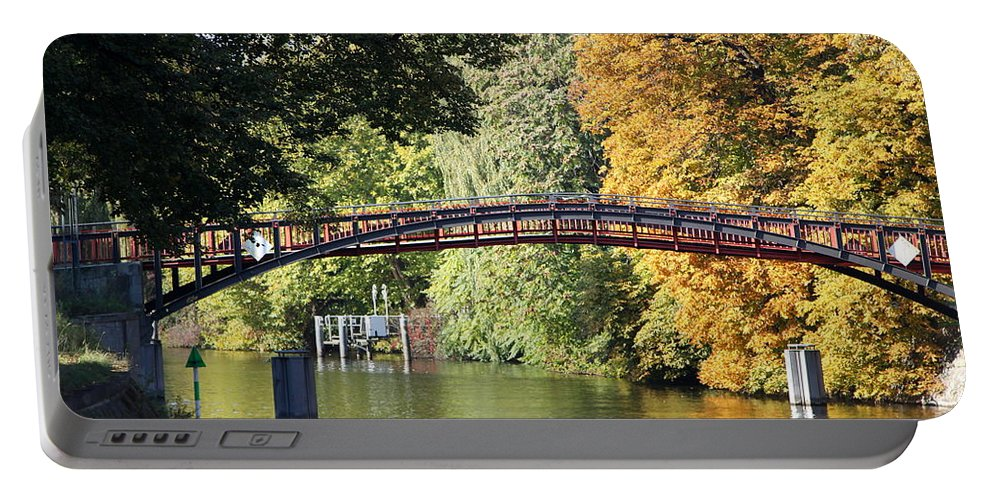 Japanese Bridge Portable Battery Charger featuring the photograph Japanese Bridge by Christiane Schulze Art And Photography