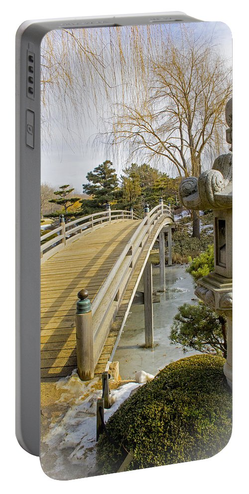 Japanese Garden Portable Battery Charger featuring the photograph Japanese Garden by Robert Storost