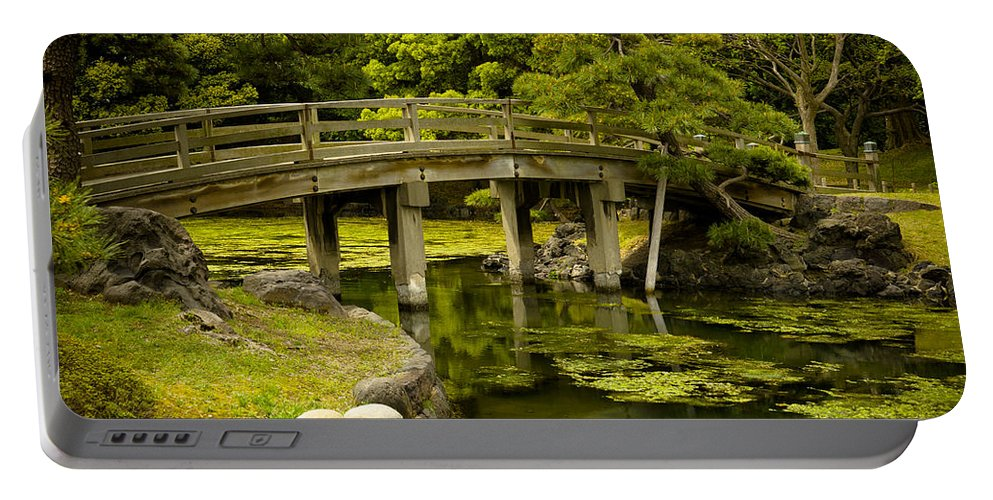 Japan Portable Battery Charger featuring the photograph Japanese Garden Tokyo by Sebastian Musial