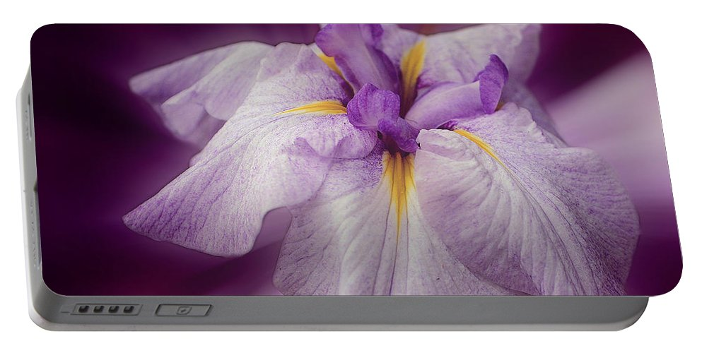 Japanese Iris Portable Battery Charger featuring the photograph Japanese Iris by Smilin Eyes Treasures