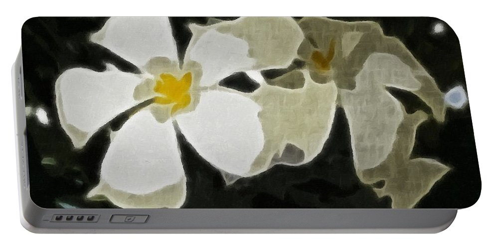 Jasmine Expressive Brushstrokes Portable Battery Charger featuring the photograph Jasmine Expressive Brushstrokes by Barbara Griffin