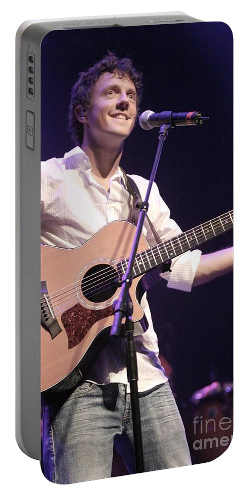 Grammy Nominated Portable Battery Charger featuring the photograph Jason Mraz by Concert Photos