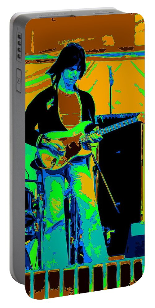 Jeff Beck Portable Battery Charger featuring the photograph Jb #15 Enhanced In Cosmicolors Crop 2 by Ben Upham