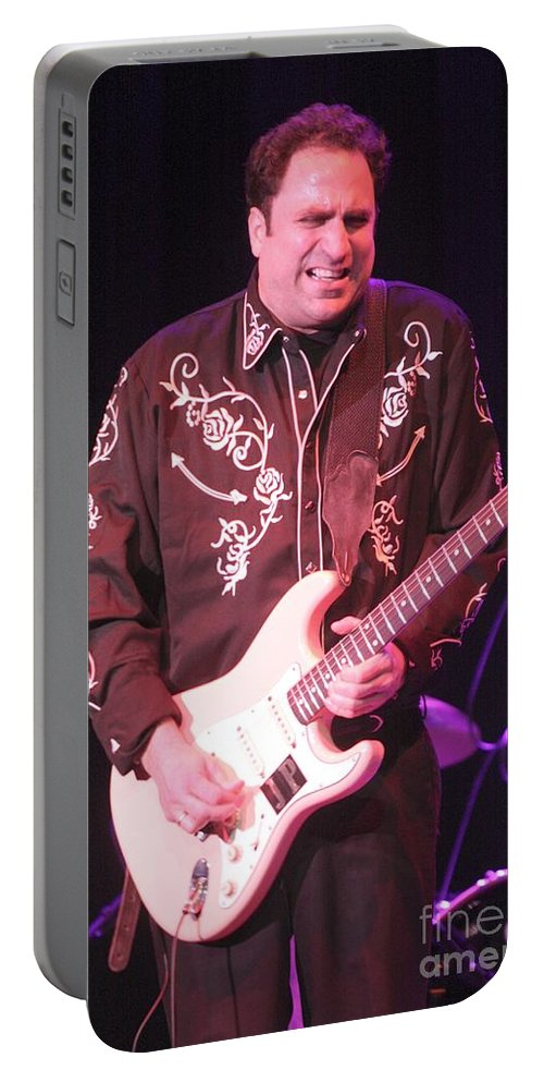 Fender Stratocaster Portable Battery Charger featuring the photograph Jeff Pitchell by Concert Photos