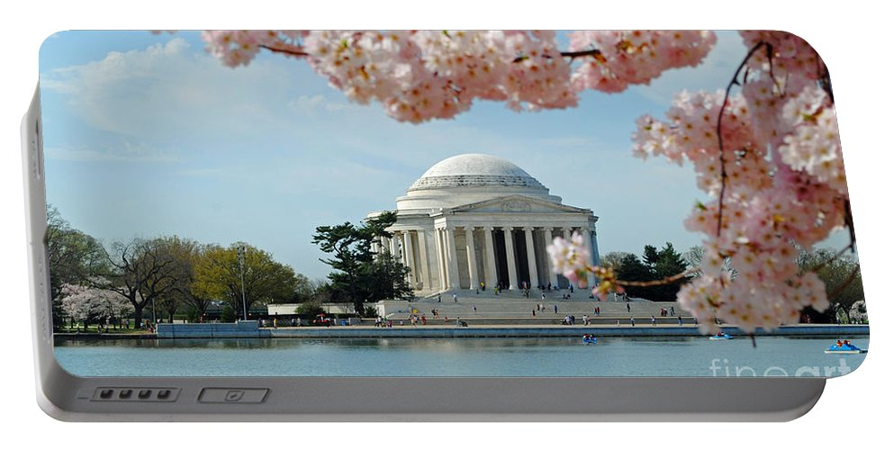 Cherry Portable Battery Charger featuring the photograph Jefferson Bloom by Jost Houk