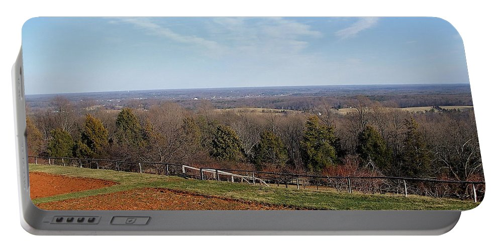 Heights Portable Battery Charger featuring the photograph Jefferson's View From Monticello by Susan Wyman