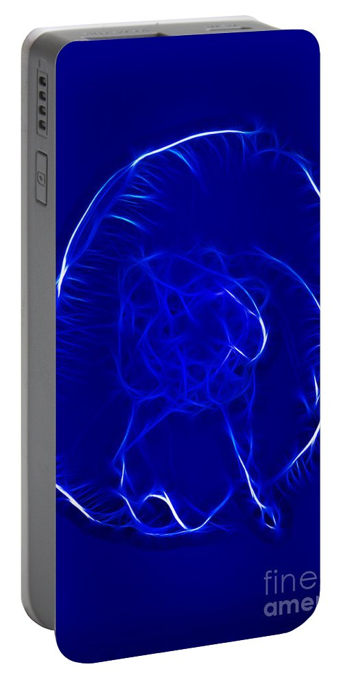 Fractal Portable Battery Charger featuring the photograph Jellyfish Fractal 2 by Vivian Christopher