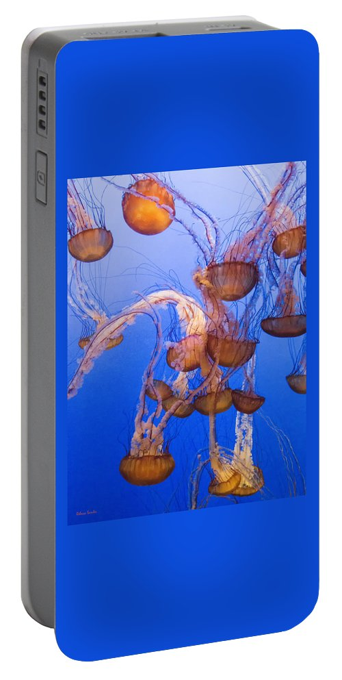 Jellyfish Portable Battery Charger featuring the photograph Jellyfish by Rebecca Samler