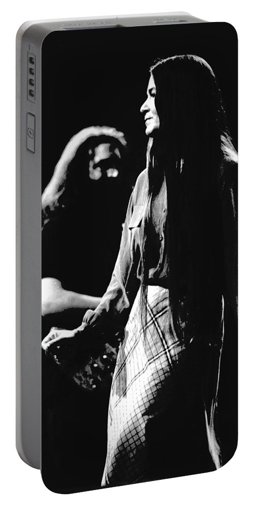 Jerry Garcia Portable Battery Charger featuring the photograph Jerry And Donna Godchaux 1978 by Ben Upham