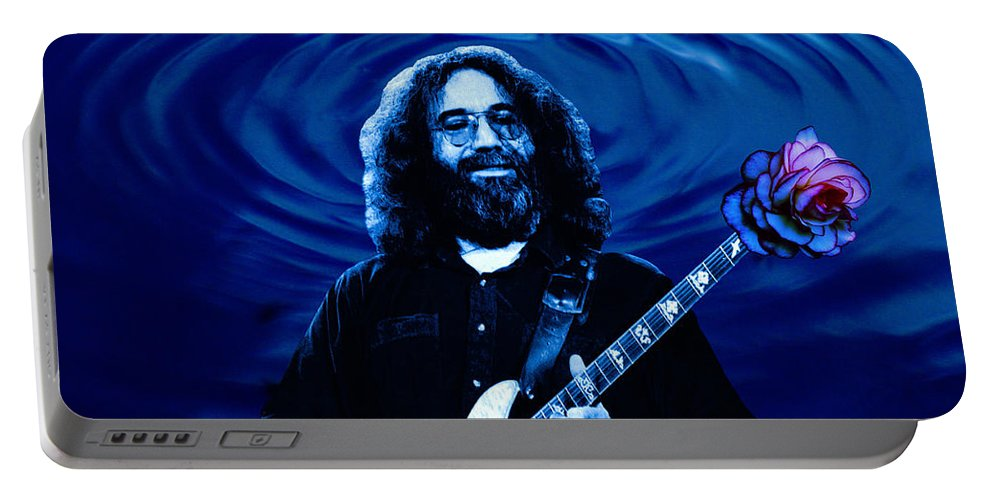 Grateful Dead Portable Battery Charger featuring the photograph Blue Ripple Rose by Ben Upham