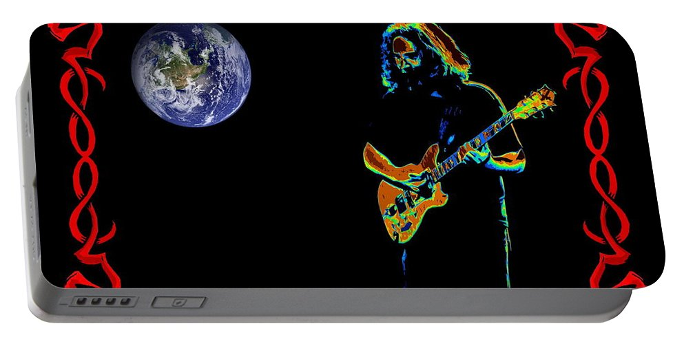 Jerry Garcia Portable Battery Charger featuring the photograph Jerry In Space by Ben Upham