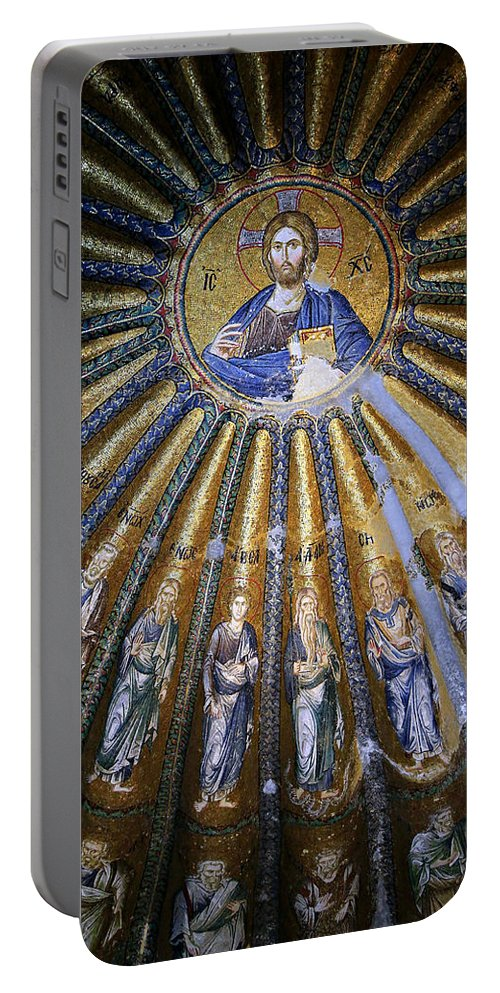 Christ Pantocrator Portable Battery Charger featuring the photograph Jesus And His Peeps by Stephen Stookey
