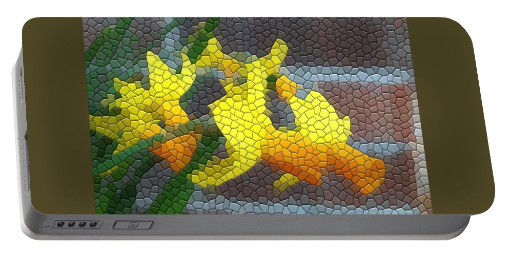 Mosaic Portable Battery Charger featuring the photograph Jetfires by Kathryn Meyer