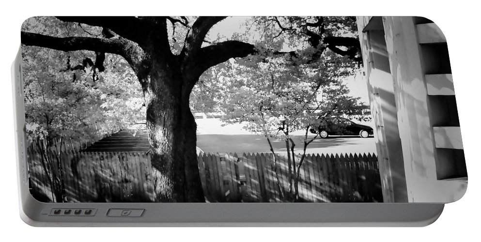 Landscapes Portable Battery Charger featuring the photograph Jfk-the Stockade Fence-dealy Plaza by Robert McCubbin