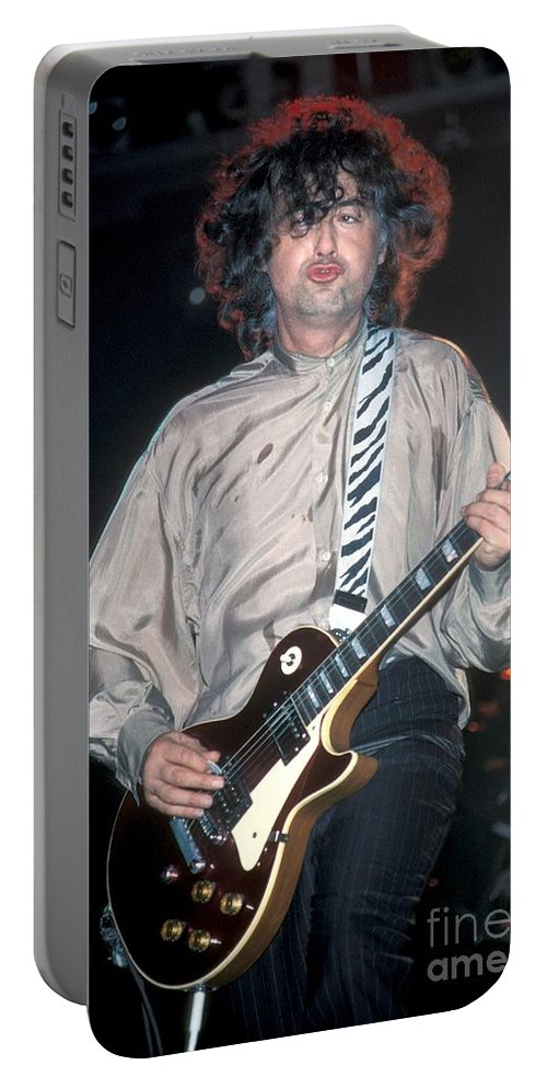 Photos Portable Battery Charger featuring the photograph Jimmy Page by Concert Photos