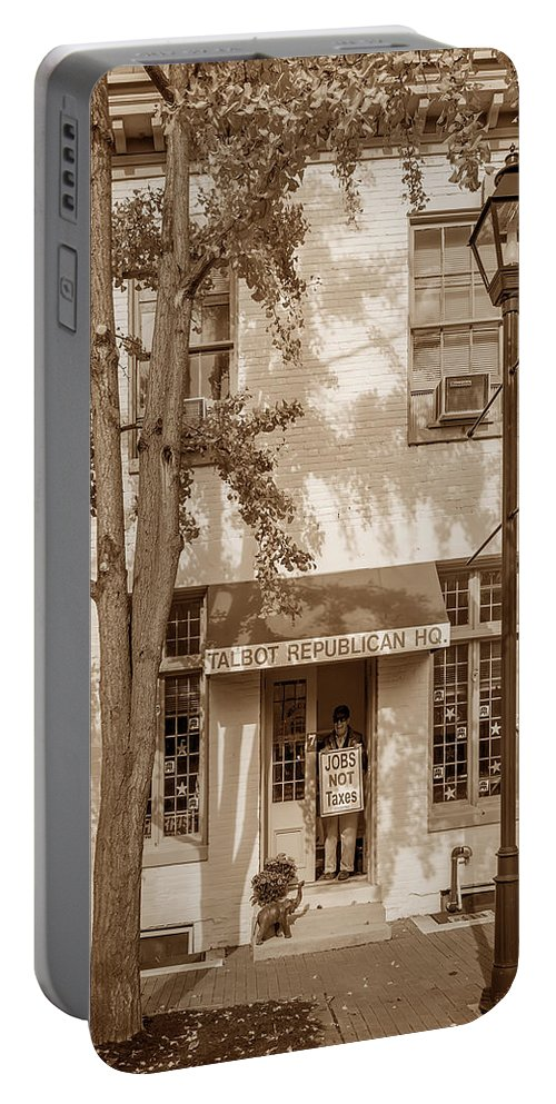 2d Portable Battery Charger featuring the photograph Jobs Not Taxes by Brian Wallace