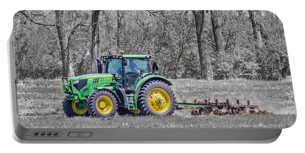 John Deere Portable Battery Charger featuring the photograph John Deere 2 by Chad Rowe