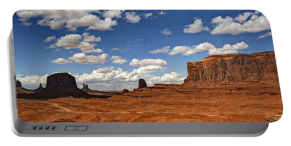 Monument Valley Portable Battery Charger featuring the photograph John Ford Point - Monument Valley by Saija Lehtonen