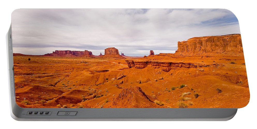 Monument Valley Portable Battery Charger featuring the photograph John Ford's Point by Peter Tellone