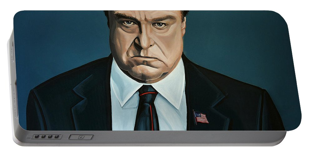 John Goodman Portable Battery Charger featuring the painting John Goodman by Paul Meijering