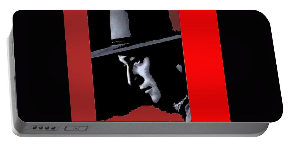 John Wayne Ringo Kid Portrait Stagecoach 1939-2013 Portable Battery Charger featuring the photograph John Wayne Ringo Kid Portrait Stagecoach 1939-2013 by David Lee Guss